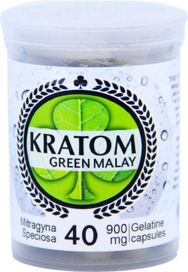 Kratom Green Malay 40 Capsules