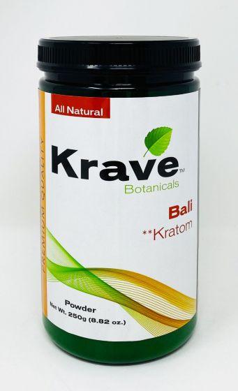 Krave Botanicals Bali Kratom Powder 250g 8.82 oz