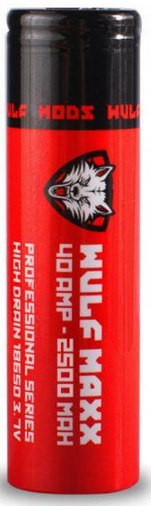 Wulf Maxi Mods 40Amp 2500MAH 3.7 Volt 18650