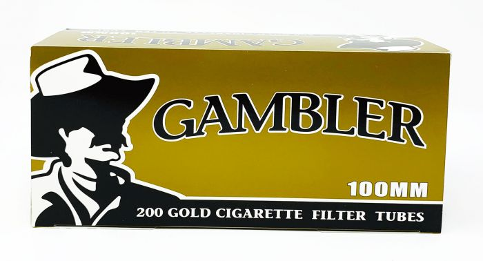 Gambler 100MM Gold Cigarette Filter Tubes