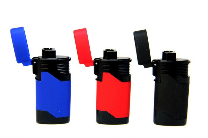 Victory Multi Colors Torches Refillable Lighter 12 Ct