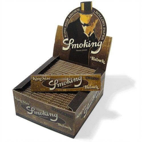 Smoking Brown Box King Size Hemp Rolling Paper
