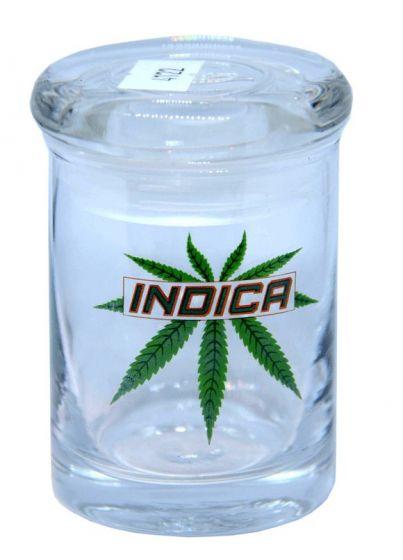 Indica 90ML Stash Clear Storage Glass Jar Bottle
