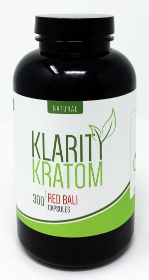 Klarity Kratom Red Bali 300 Pills Bottle