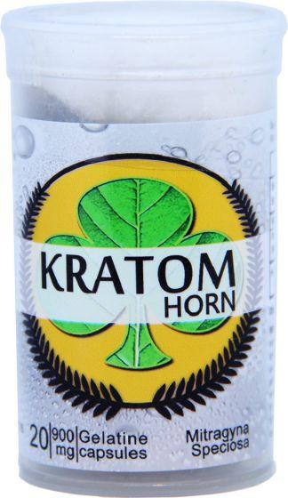 Kratom Horn 20 Capsules Per Bottles